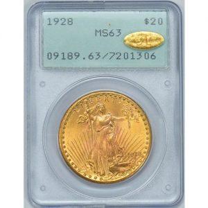 1928 $20 gold coin