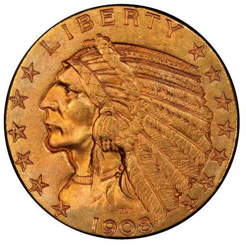 Gold Half Eagle ( Indian Head)